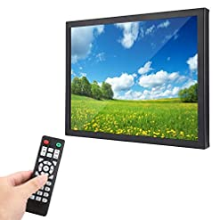 15 inch TFT Multi-point Capacitive Touch Screen 1024×768 HD WLED Industrial metal shell Monitor with HDMI/VGA/AV/BNC/USB, Suitable for PC, TV, CCTV, Camera, Security, Computer, for Raspberry Pi(UK)