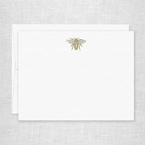 Letterpress Stationery (Missive Antique Bee Letterpress Stationery, Set of 6)