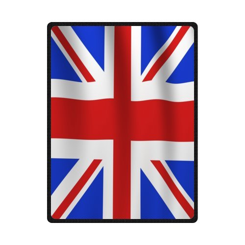 Union Jack Flag Blanket 58 inches x 80 inches (Large)