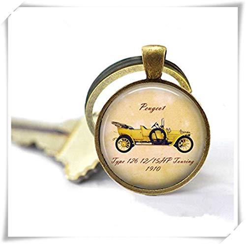 memory Vintage Peugeot Key Ring Retro Car Petrol Head Car Fanatic Unusual Key Chain