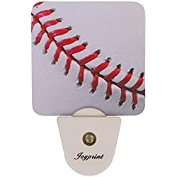 JOYPRINT Led Night Light Sport Ball Baseball, Auto Senor Dusk to Dawn Night Light Plug in for Kids Baby Girls Boys Adults Room