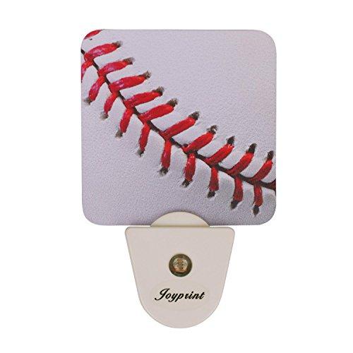 JOYPRINT Led Night Light Sport Ball Baseball, Auto Senor Dusk to Dawn Night Light Plug in for Kids Baby Girls Boys Adults Room