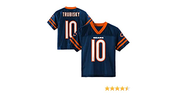 huge discount 5beb8 1578e Outerstuff Mitchell Trubisky Chicago Bears #10 Navy Blue Toddler Home  Player Jersey