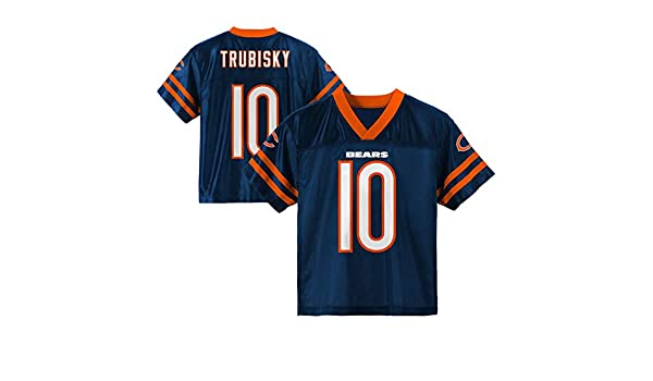 838732a73 Amazon.com   Outerstuff Mitchell Trubisky Chicago Bears  10 Navy Blue Youth Home  Player Jersey (X-Small 4 5)   Sports   Outdoors