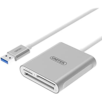 USB Card Reader, UNITEK Aluminum 3-Slot USB 3.0 Flash Memory Card Reader, Supports SanDisk Compact Flash Memory Card & Lexar Professional CompactFlash ...