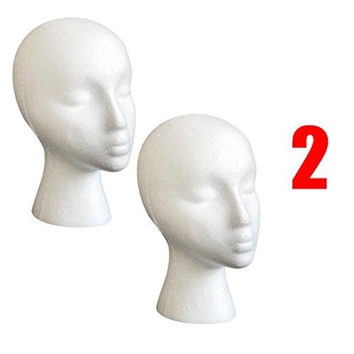 Bestpriceam 2PC Female Styrofoam Wig Head (2 Pack)