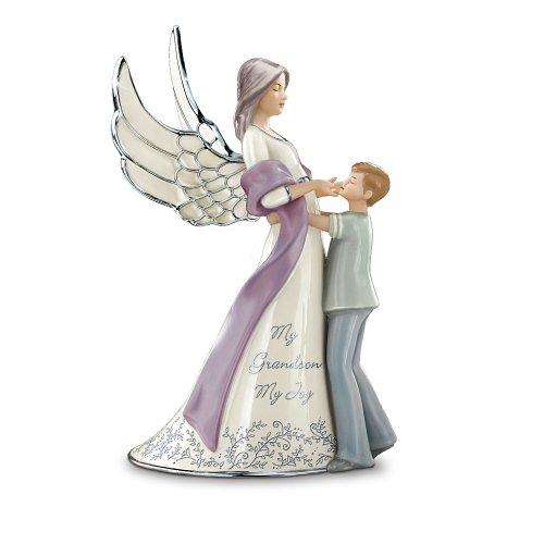 My Grandson, My Joy Porcelain Guardian Angel Figurine Gif...