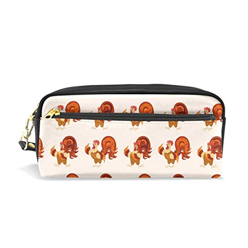 White Funny Rooster DancingConvenient small cosmetic bag, stylish casual style, suitable for all occasions, travel essentials. -