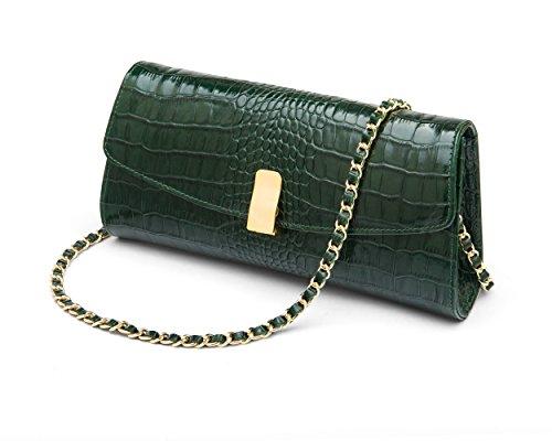 Melanie Melanie Bag Croc Green SageBrown Bag Green Croc SageBrown qwxxCBvPp