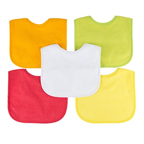 Little-Likes Waterproof Baby Bibs with Three Snaps, Unisex,