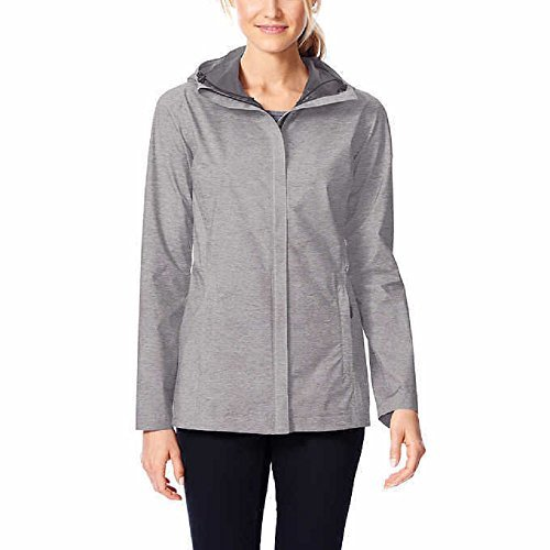 32 Degrees Cool Womens Performance Rain Jacket Dove Melange Small (Performance Rain Jacket)