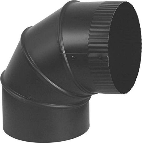 7 inch black stove pipe elbow - 3