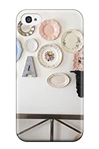 9174891K85408438 Forever Collectibles White Bedroom Wall Displays Colorful Plate Decorations And Photo Shelf Hard Snap-on Iphone 4/4s Case