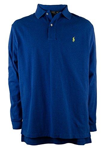 Polo Ralph Lauren Men's Big and Tall Long-Sleeved Mesh Polo Shirt-SBH-5XB