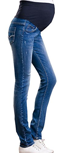 Foucome Womens Jeans Maternity Trousers Denim Slim Pregnant Pants Legging Belly Cover