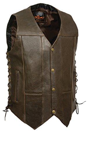 4 Pocket Leather Vest - 3
