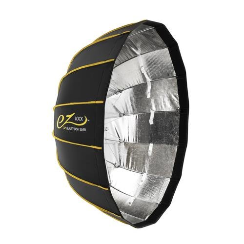 Glow EZ Lock Collapsible Silver Beauty Dish (34'') by Glow