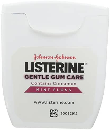 Listerine Gentle Gum Care Woven Floss, 50 Yards (Pack of 6)