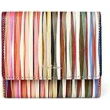 [ポール・スミス] 財布 レディース 二つ折り財布 クロスオーバーストライプ 正規品 新品 新品 小銭入れあり 本革 牛革 レザー 女性 婦人
