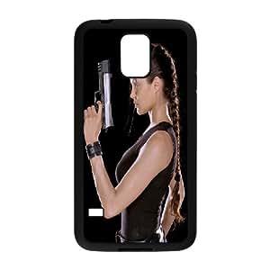 [Angelina Jolie] Angelina Jolie Lara Croft Case for Samsung Galaxy S5, Samsung Galaxy S5 Case {Black}