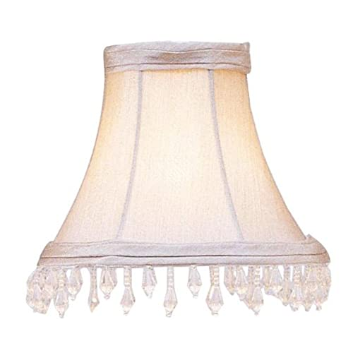 Beaded lamp shade amazon livex lighting s144 bell clip chandelier shade with clear beads 1 x 1 x 1 pewter aloadofball Choice Image