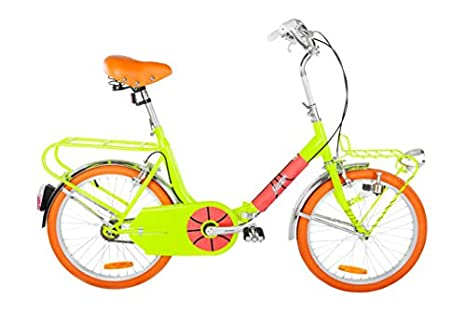 Graziella Style Bici 20 Ivel Garage Giallo Flou Pieghevole Custom