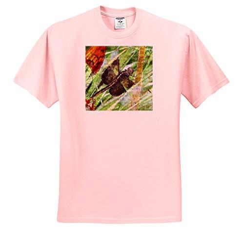 Cassie Peters Digital Art - Dragonfly - T-Shirts - Adult Light-Pink-T-Shirt 3XL (ts_302167_39)