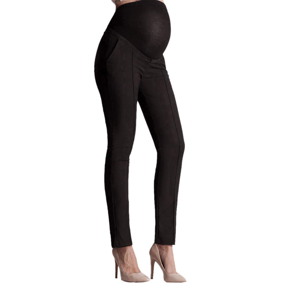 189fb31c1b3b8 Amazon.com: Maternity Leggings High Waist Pencil Pants for Woman Elastic  Belly Protection Stretch Trousers Pregnant Comfort Prop Belly: Arts, ...