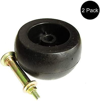 Amazon.com: Two (2) Deck Wheel/Roller Kit for Kubota Exmark ...