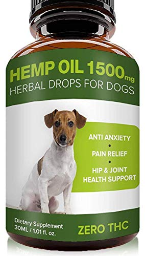 - Pawesome Hemp Oil for Dogs Cats - 1500 MG Made in USA Hemp Extract - Organic Pet Hemp Oil - Natural Arthritis Pain Relief, Support Hip & Joint Health, Separation Anxiety, Omega-3, 6