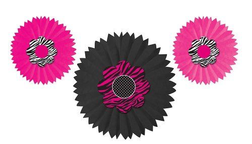 pink and zebra party streamers - 3
