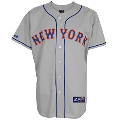 best service 1e461 0630a Amazon.com : Majestic New York Mets Youth Road Grey Replica ...