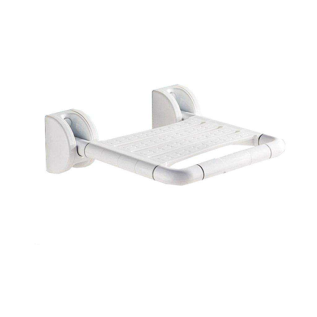 シャワーチェアバスルーム折りたたみスツール壁シャワー座席バスルーム高齢者シャワーウォールチェアシャワースツール (色 : 白, サイズ さいず : A) B07DFFKZXB A|白 白 A