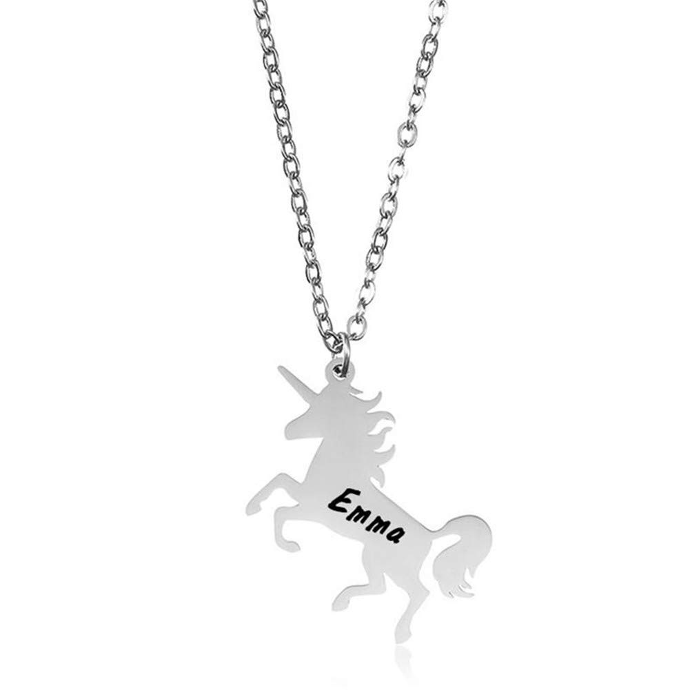 Qermolas Unicorn Jewelry Personalized Custom S925 Sterling Silver Exquisite Pendant Necklace