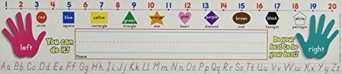 Scholastic  Super School Tool Modern Manuscript Name Plates Primary Grades (TF1553)