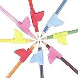 Pencil Grips,KUCEY Handwriting Training Grip Pencil Holder Posture Correction Tool Finger Grip for Kids Children Preschoolers Kindergarten Adults (6 pcs/Set)