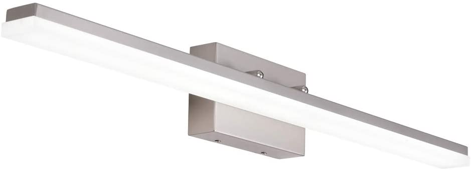 mirrea 36in Modern LED Vanity Light for Bathroom Lighting Dimmable 36w Brushed Nickel (Cold White 5000K)