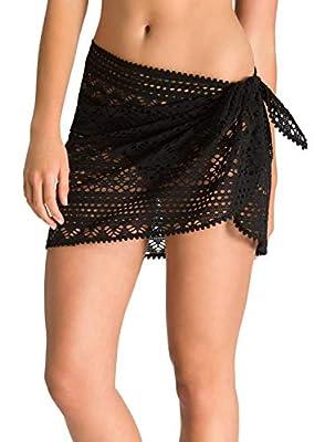 EVALESS Women Stylish Bikini Cover Up Beach Wear Crochet Sarong Cover-ups Swimwear