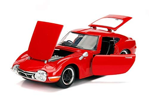 1967 Toyota 2000GT Coupe Red JDM Tuners 1/24 Diecast Model Car Jada 30447