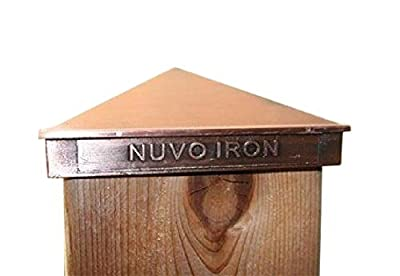 "Nuvo Iron 5.5"" x 5.5"" (nominal 6"" x 6"") Pyramid Ornamental Aluminium Post Cap (Copper Plated) Fencing-decorative Fence"