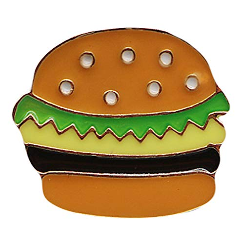 Flairs New York Premium Handmade Enamel Lapel Pin Brooch Badge (Cheeseburger, 1 Pin)]()