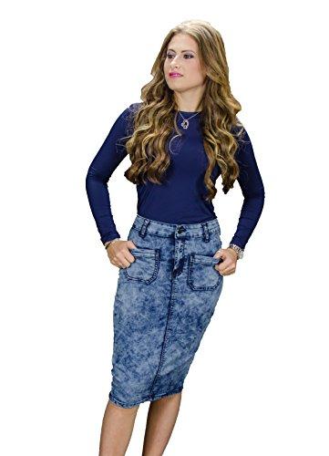 Denim 5 Pocket Skirt - 4