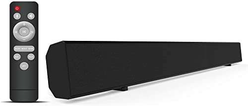 Sound Bars for TV Soundbar Meidong 2.1 Channel TV Sound Bar Wired and Wireless Home Audio Speaker Surround Sound System for TV PC Smartphone Wall-mountable Included Optical RCA Aux Connection