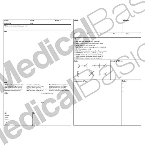 Surgery H&P Notebook with 4 Day SOAP - Medical History and Physical Notebook, 50 Medical templates w - http://medicalbooks.filipinodoctors.org