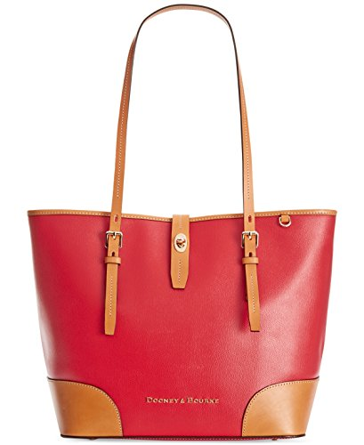 NEW AUTHENTIC DOONEY & BOURKE LARGE DOVER LEATHER DOUBLE HANDLE TOTE (Red) $298
