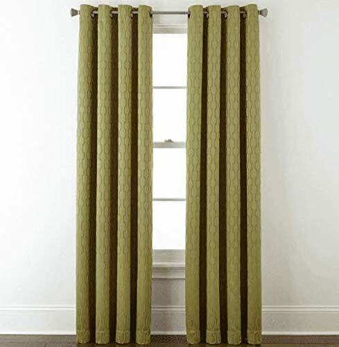 (Studio Luna Blackout Grommet-Top Curtain Panel 50