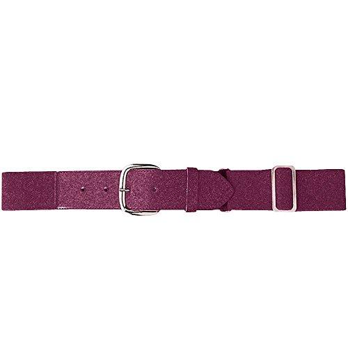 Augusta Sportswear Elastic Baseball Belt, One Size, Maroon