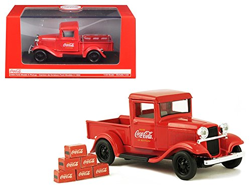 Coca-Cola 1934 Ford Model a Pickup with 6 Bottle Cartons Vehicle