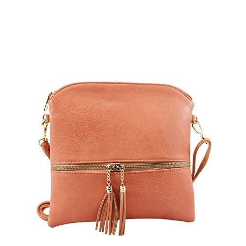 Hautefordiva , Sac pour femme à porter à l'épaule rose moyen rose pâle