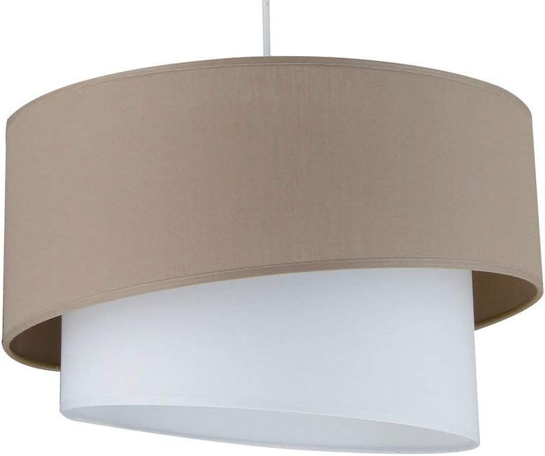 IONOS – Colgante TaupeBlanco ø38 cm – Suspensión metropolight designé par
